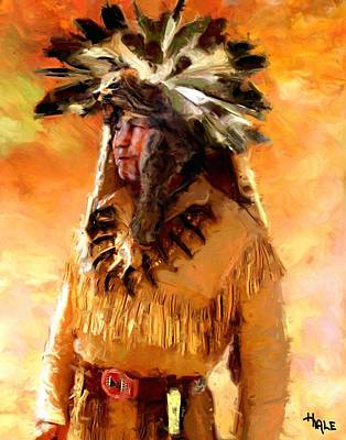 Painting - Native Mountain Man by Roger D Hale