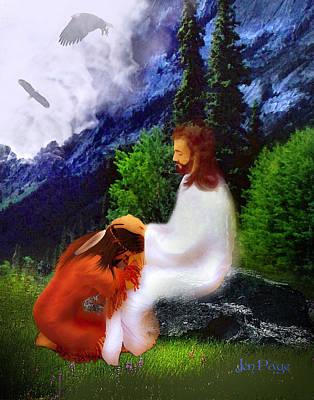 Jennifer Page Mixed Media - Native Prayer by Jennifer Page