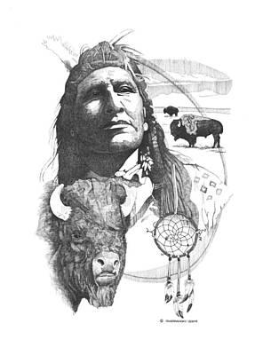 Wall Art - Drawing - Native Pride by Paul Shafranski