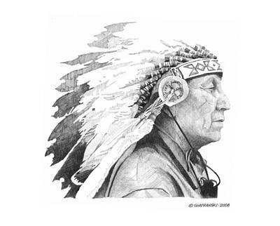 Wall Art - Drawing - Native Son by Paul Shafranski