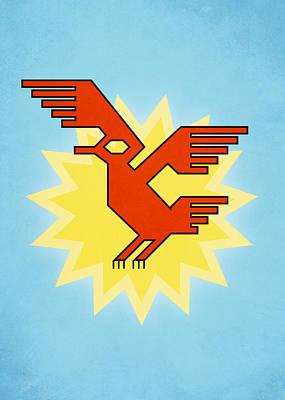 Native South American Condor Bird Art Print