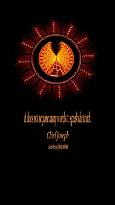 Digital Art - Native Truth - Chief Joseph by Lea Wiggins