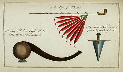 Carver Photograph - Native Weapons by British Library