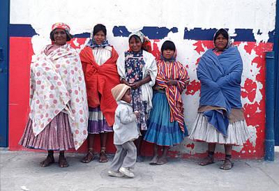 Native Women In Costume Art Print