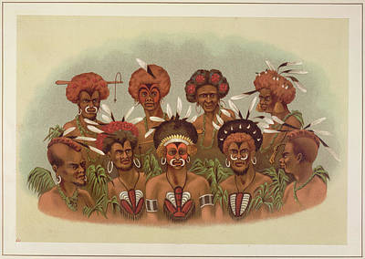 Guinea Wall Art - Photograph - Natives Of Humboldt Bay by British Library