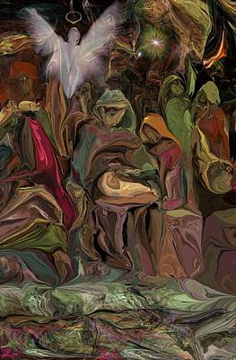 Digital Art - Nativity 1113 by David Lane