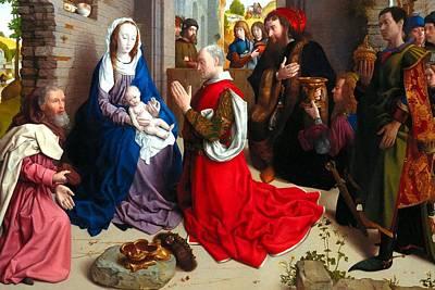 Nativity And Adoration Of The Magi Art Print by Munir Alawi