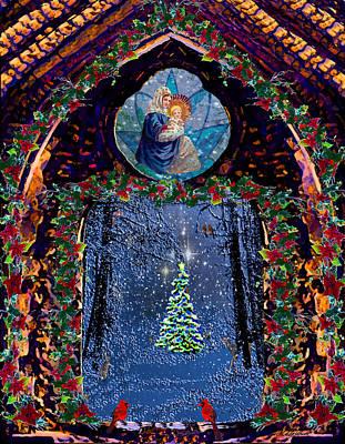 Photograph - Nativity And Tannenbaum Christmas  by Michele Avanti