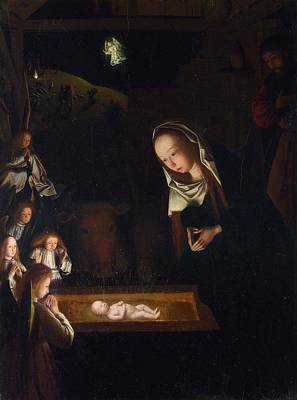 Netherlands Painting - Nativity At Night by Geertgen Tot Sint Jans