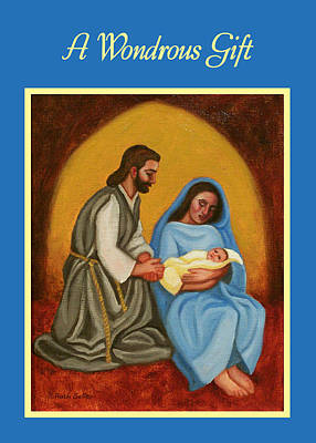Painting - Nativity Card by Ruth Soller