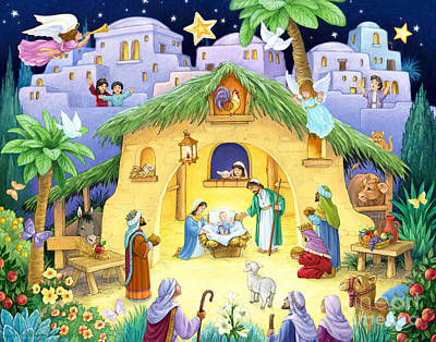 Digital Art - Nativity For Children by Randy Wollenmann