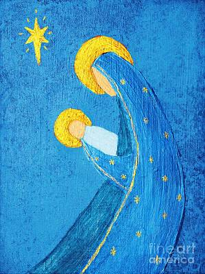 Nativity In Blue Art Print