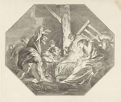 Nativity, Jacob De Wit Art Print