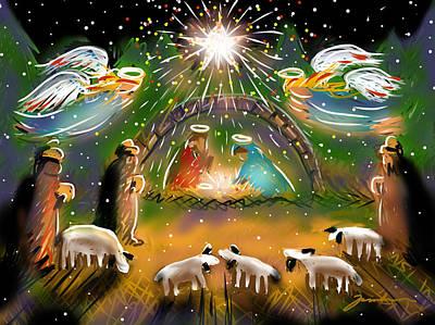 Painting - Nativity by Jean Pacheco Ravinski