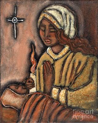 Holy Mother Mixed Media - Nativity by Maya Telford