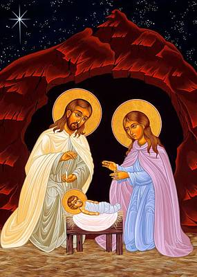 Nativity Night Print by Munir Alawi