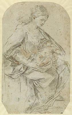Nativity Recto,  Turbaned Woman Verso Guido Reni Art Print