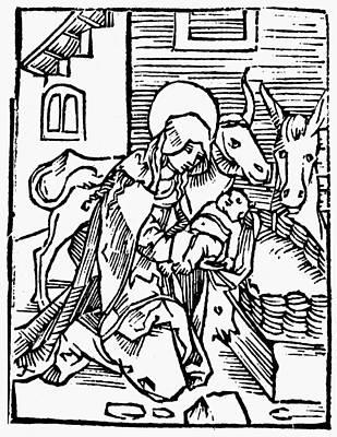 1505 Painting - Nativity Scene, 1505 by Granger