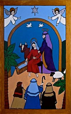 Painting - Nativity Scene by Stephanie Moore
