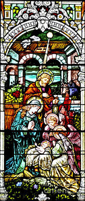 Photograph - Nativity Stained Glass Window by Pattie Calfy