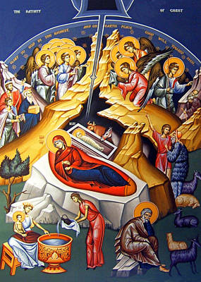 Orthodox Icon Photograph - Nativity Story by Munir Alawi