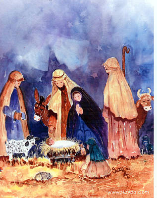 Religious Artist Painting - Nativity by Suzy Pal Powell
