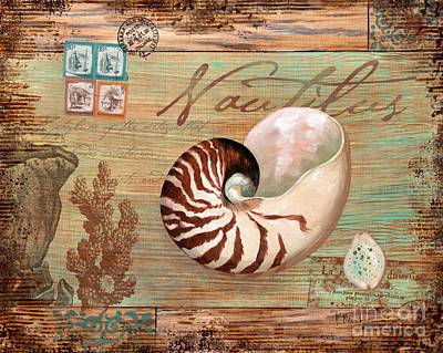 Stamp Collection Painting - Natura Nautilus by Paul Brent