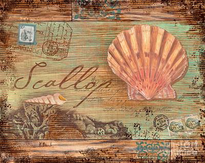 Conch Painting - Natura Scallop by Paul Brent