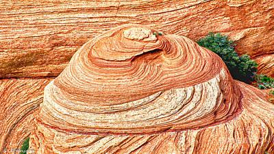 Natural Abstract Canyon De Chelly Art Print by Bob and Nadine Johnston