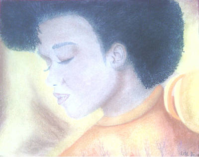 Afro Mixed Media - Natural by Alicia Lindley