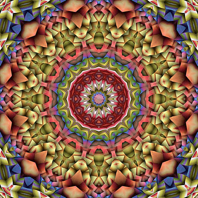 Digital Art - Natural Attributes 10 Square by Wendy J St Christopher