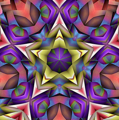 Digital Art - Natural Attributes 16 Square by Wendy J St Christopher