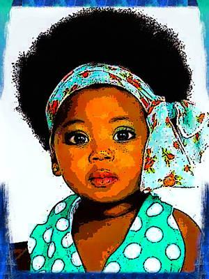 Digital Art - Natural Baby Girl by Karen Buford
