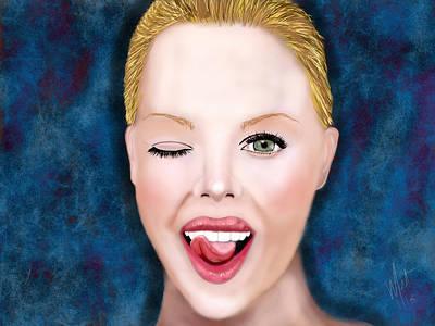 Charlize Wall Art - Digital Art - Natural Beauty Charlize by Mathieu Lalonde