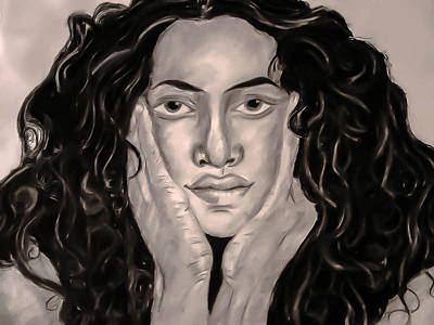 Solange Drawing - Natural Beauty by Lauren Baker