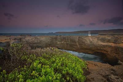 Nederland Digital Art - Natural Bridge Aruba by Eti Reid