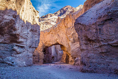 Landscapes Photograph - Natural Bridge In Death Valley National Park by Pierre Leclerc Photography