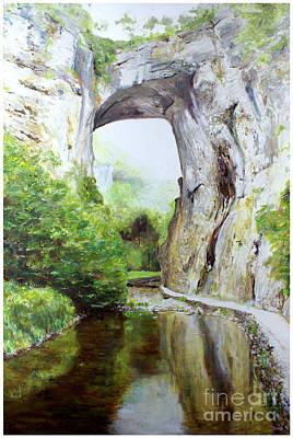 Natural Bridge Art Print by J Luis Lozano