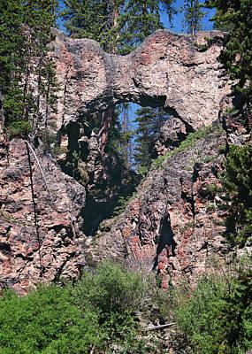 Photograph - Natural Bridge Yellowstone by Jemmy Archer