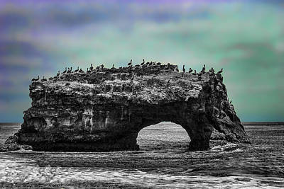 Natural Bridges State Beach Art Print