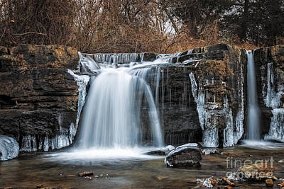 Natural Dam Winter Art Print