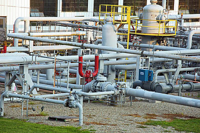 Compressor Photograph - Natural Gas Compressor Station by Jim West