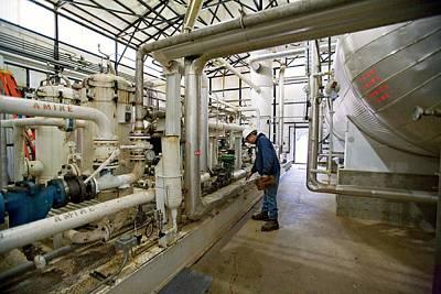 Natural Gas Processing Plant Art Print