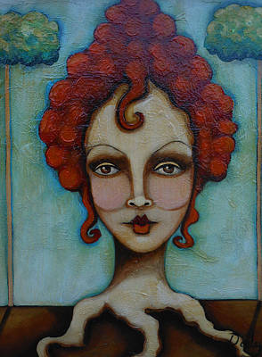 Self-taught Painting - Natural Red Head by Sherry Dooley