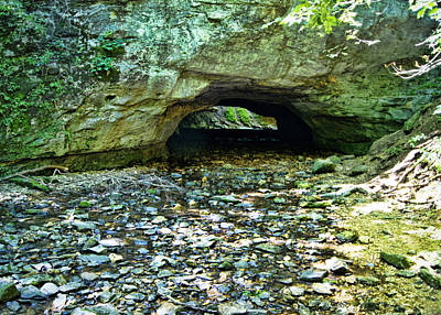 Rockbridge Photograph - Natural Rock Bridge by Cricket Hackmann