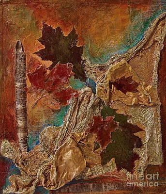 Natural Rythmes - Earth Colors  Art Print by Delona Seserman