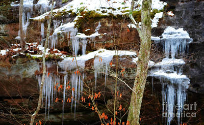 Photograph - Natural Spring Waterfall Frozen In Time by Peggy Franz
