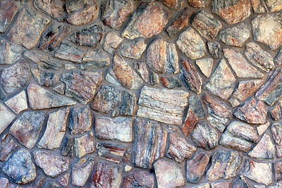Photograph - Natural Stone Wall by Gunter Nezhoda