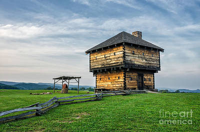 Split Rail Fence Photograph - Natural Tunnel Blockhouse by Anthony Heflin