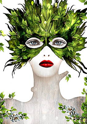 Natural Women Art Print by Yosi Cupano